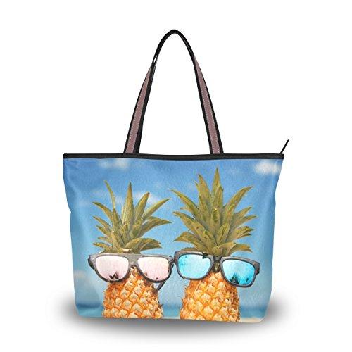 Tote Top Handle Laptop Shoulder Bag Pineapples Stylish Sunglasses Handbag for Women - 17.7x13x5.1in - by Top - Sale Wonderland Sunglasses