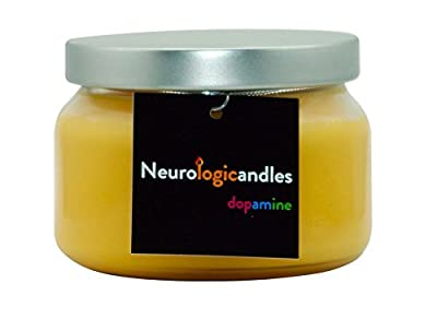 Neurologicandles Dopamine 10oz Handmade Aromatherapy 100% Soy Candle Made By Neuroscientists. Sweet Smell (Vanilla, Honey, Oats)