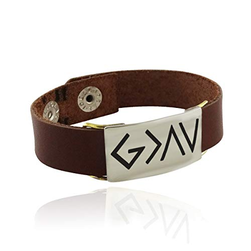 Bulgari Yellow Bracelet - God is Greater Than The Highs and Lows Engraved Bracelet - Leather Band Snap 7'' - Jewelry Accessories Key Chain Bracelets Crafting Bracelet Necklace Pendants