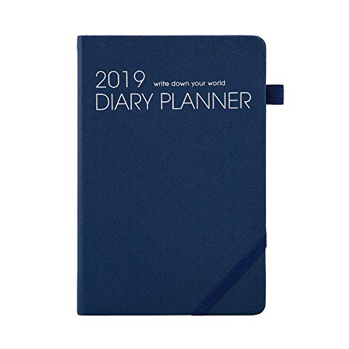 2019 Monthly Weekly Planner Calendar Appointment Book 12 Month (January 2019 - December 2019) Daily Dated Agenda Day Planners with Shopping List, to Do List,Budget,5.6 x 8.2 Blue