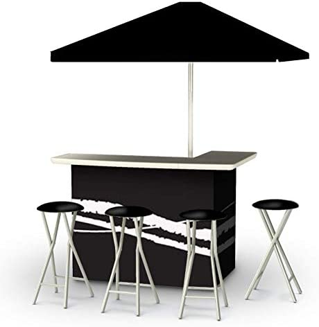 Best of Times Patio Bar and Tailgating Center Standard Package, Classic Black
