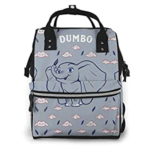 NHJYU Diaper Bag Backpack – Dumbo with Cloud Multifunction Waterproof Travel Backpack Maternity Baby Nappy Changing Bags