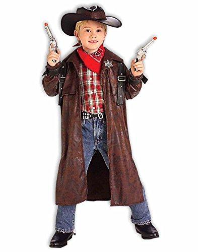 Boys Duster Jacket (Forum Novelties Desperado Costume - Child Costume - Medium)