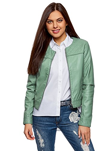 Ultra Giacca Verde Donna Con 6c00n Strass Metallici In Ecopelle Oodji qfOEdqw
