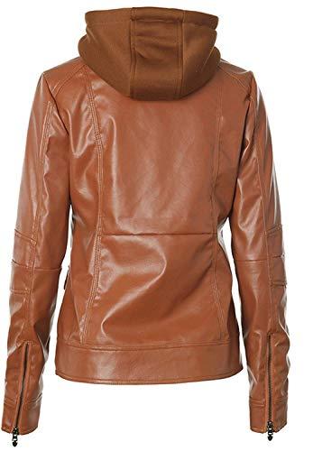 Con Di Moto Giacche Incappucciato Donna Braun Marca Outwear Vita aq4XtxHw4
