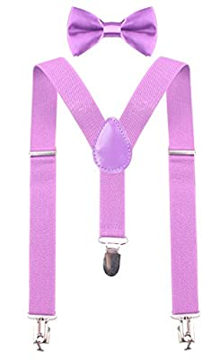 PZLE Toddler Suspenders and Bow Tie Set for Kids Boys Available in 3 Sizes
