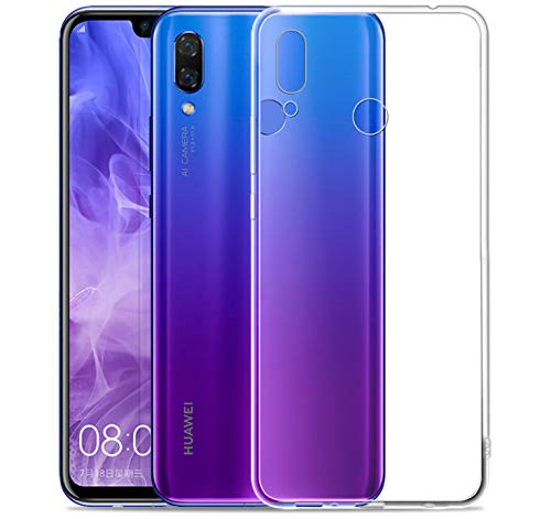 wholesale dealer 62225 a1a7b Huawei Nova 3 Case, iCoverCase Ultra-Thin Silicon Back Cover [Clear  Transparent] Lightweight Protective Soft TPU Case for Huawei Nova 3