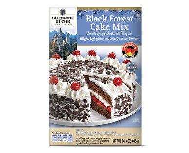 Deutsche Küche Authentic German Import Black Forest Cherry Cake Mix
