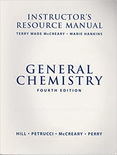 Book General Chemistry Fouth Edition (INTRUCTOR'S RESOURCE MANUAL)