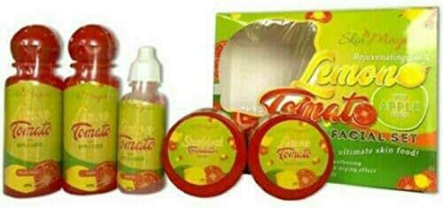 Skin Magical Skin Rejuvenating Set 4 - Lemon Tomato Facial Set with Apple Cider