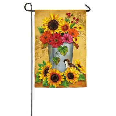 Evergreen Enterprises Bucket Bouquet Garden Flag