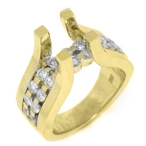 Carats 18k Gold Semi Mounting - 3