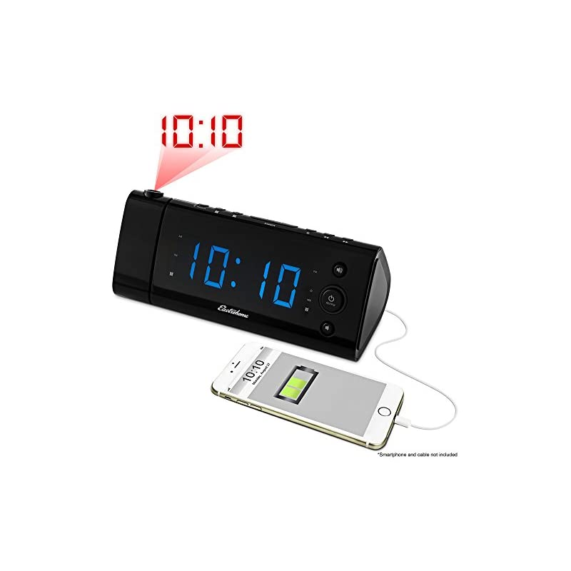 Electrohome USB Charging Alarm Clock Rad