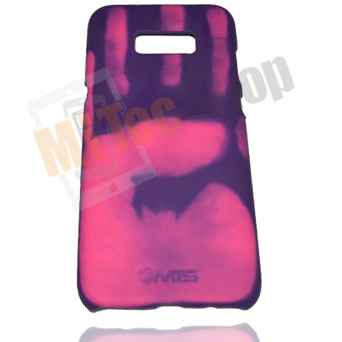 Galaxy S8 Plus [heat sensitive protector case + Magical Color Changing  Thermal Sensor Fluorescent Thermal Heat Induction Matte Back Case (Purple)