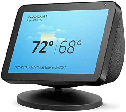 Stand for Echo Show 8 and Show 5, AutoSonic Adjustable Stand Mount Accessories for Amazon Alexa Speaker, Magnetic Attachment, 360 Degree Swivel, Tilt Function, Anti-Slip Base, 2019 Release, Black