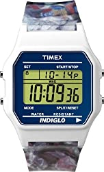 Digital TIMEX 80 Classic Ladies Mens Watch White Rubber Band T2N379