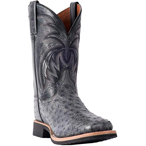 Men's Dan Post Philsgood Ostrich Boots Handcrafted Grey ()