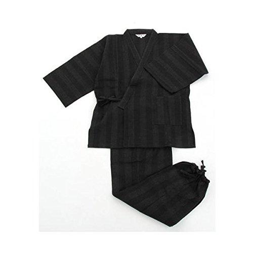 日用品 ファッション 関連商品 纏(まとい)織作務衣 141-1905 黒 Mサイズ B076Z57VH3