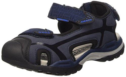 Geox J Borealis Boy C - Zapatos primeros pasos para bebés Multicolor (Navy / Black)