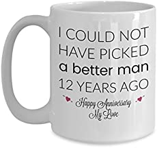 Modern Traditional 12th Wedding Anniversary Gifts For Women Men