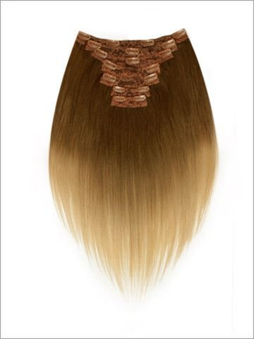 (LORD & CLIFF SEVEN PIECE STRAIGHT REMY HAIR CLIP IN EXTENSION 18