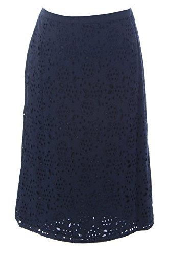 BODEN Women's Broderie Pencil Skirt, Navy, US 10R from BODEN