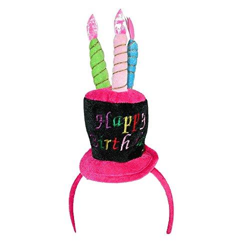 CTM Women's Blinking Light Happy Birthday Hat Headband,