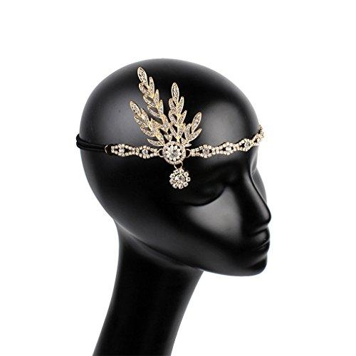 Art Deco1920s Flapper Hair Clip Great Gatsby Leaf Wedding Bridal Tiara Pearl Headpiece Roaring 20s Headband by Countonme