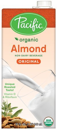 Pacific Foods Almond Non-Dairy Beverage, Original, 32 Ounce (Pack of ()