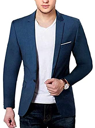 7d34a82e7 BREGEO Men's Cotton Casual Blazer: Amazon.in: Clothing & Accessories