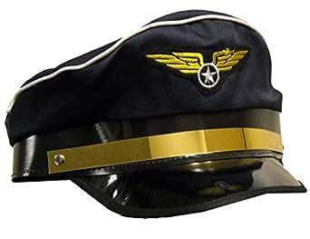 Forum Novelties Men's Novelty Adult Pilot Hat, Navy, One Size