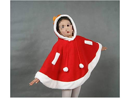 Yuchoi Funny Cute Elk Hooded Cloak Halloween Christmas Masquerade Costumes for Children (Red)