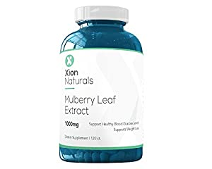 Xion Naturals White Mulberry Leaf Extract All Natural Weight Loss, Appetite Suppressant and Blood Pressure Support Supplement - 1000mg 120 Count Supports Healthy Weight Loss and Blood Pressure Health
