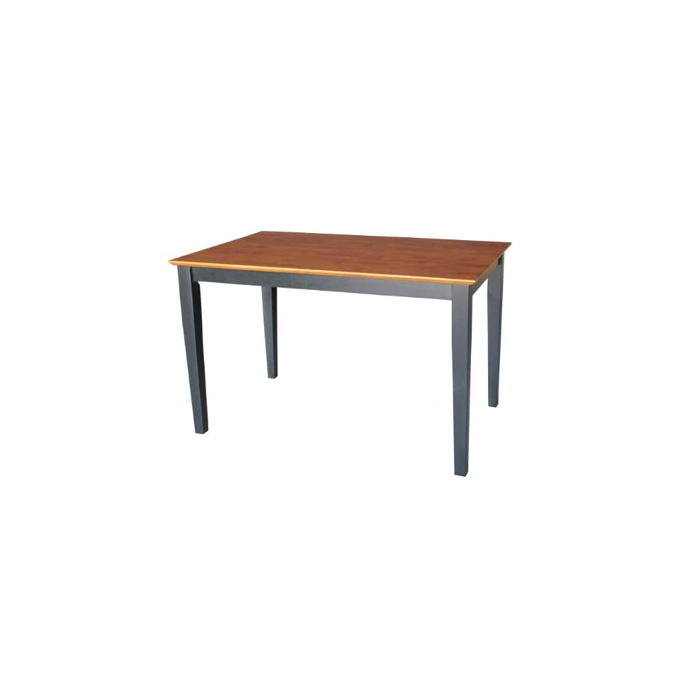 International Concepts Solid Wood Dining Table with Shaker Legs, 48 by 30 by 30 Inch, Black/Cherry