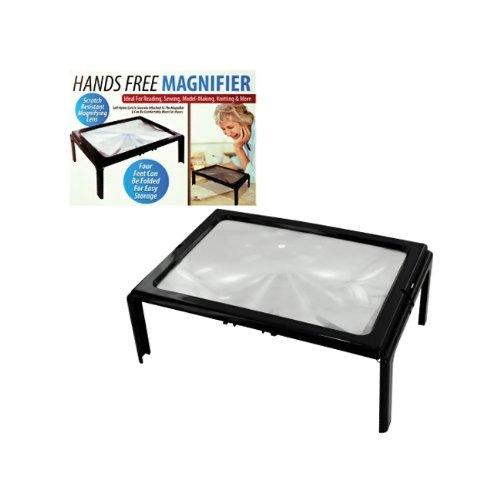 Bulk Buys desktop collo Cord Hands free Full page Magnifier lastra di vetro, confezione da 1