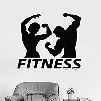 wukongsun Fitness Pareja Silueta Vinilo Apliques de Pared músculo ...