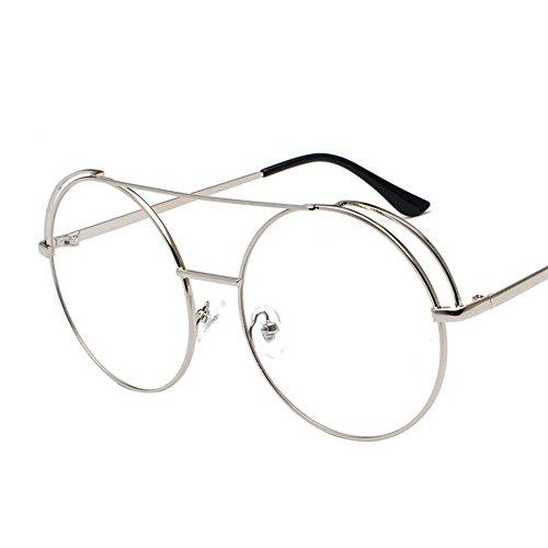 Aoligei Métalliques doubles Liang Frame lunettes de soleil, les couples hommes et femmes en miroir plat couleur film océan lunettes de soleil mode
