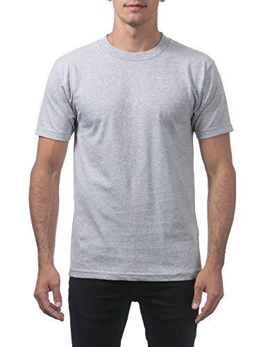 Pro Club Men's Comfort Cotton Short Sleeve T-Shirt, Heather Gray, Small