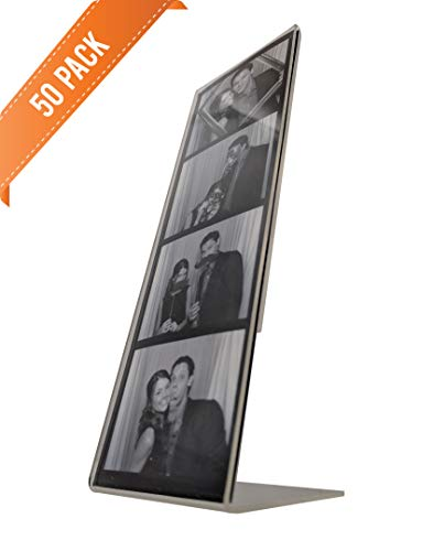50 Photo Booth Frames, Slanted Acrylic for 2x6 Picture Strips