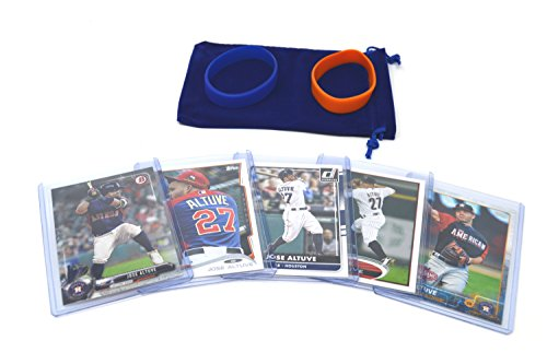 Jose Altuve Baseball Cards Assorted (5) Bundle - Houston Astros Trading Cards - World Series Mlb Baseball Jersey