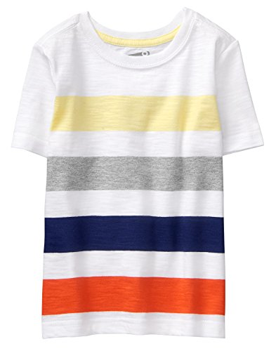 Crazy 8 Toddler Boys' Short Sleeve Spring Graphic Tee, Multi Chunky Stripe, (Stripe Graphic Tee)