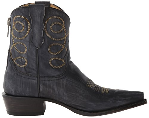 Women's Abby Stetson Western Distressed Boot Black HPaRdqw