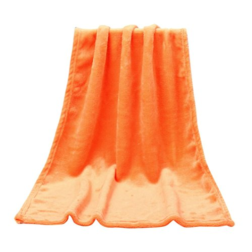 GOTD Home Decor Clearance, Baby Kids Adult Solid Soft Flannel Blanket Warm Winter 50cmx70cm Home Hot On Sale Gifts (50x70cm, Orange)