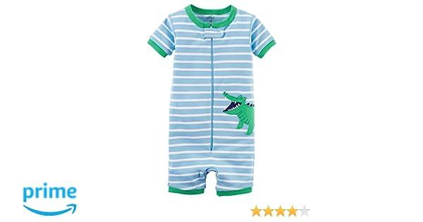 fff398b0f365 Amazon.com  Carter s Baby Boys  1-Piece Snug Fit Cotton Romper ...
