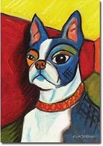 "Pawcasso Boston Terrier–28""X 40"" Toland arte Banner"