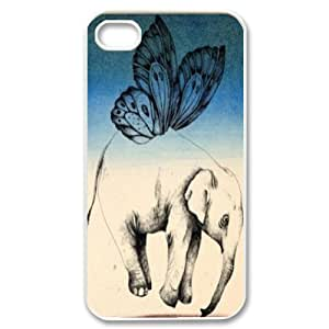 Personalized Unique Design Case for iPhone 6 plus, Colored Elephant Cover Case - HL-698157