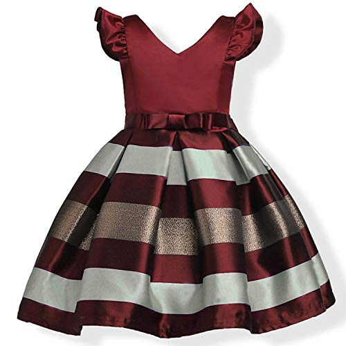 12Year Baby Girl Princess Dress Kids Stripe Sleeveless Dresses for Toddler Children European American Fashion,As Picture14,3T ()