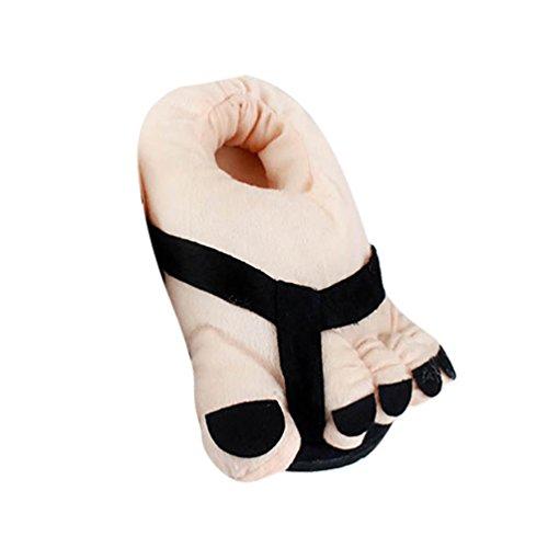 et Unisex Taille Peluche Chauds 36 Confortables pour YOUJIA Adulte Noir d'intérieur Rigolos Hiver en Pantoufle Chaussures Chaussons 38 EqdCw65w
