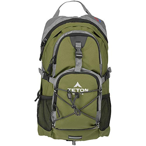 TETON Sports Oasis 1100 Hydration Pack | Free 2-Liter Hydration Bladder | Backpack design great for Hiking, Running, Cycling, and Climbing | Green