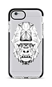 Stylizedd Apple iPhone 6s/ 6 Cover Impact Pro Black Military Grade Dual Layer Case - Poly Ape